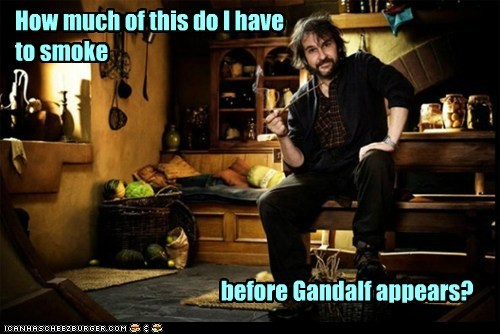 peter jackson,Lord of the Rings,high,dwarves,gandalf,smoke,The Hobbit,pipe weed