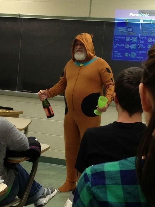 Would Your Dad Show Up to Career Day Like This?