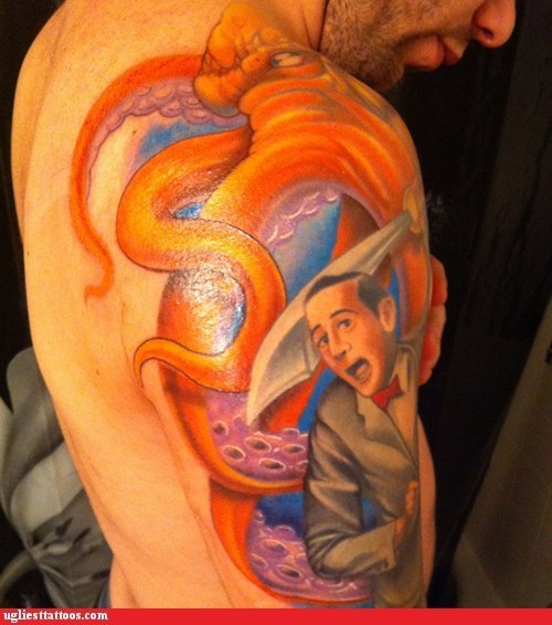 arm tattoos,peewee herman,octopus