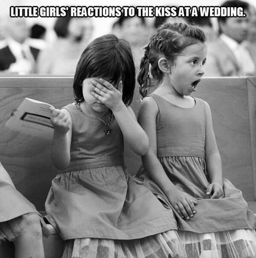 KISS,wedding,little girls