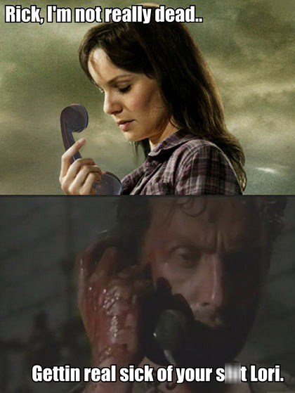 Rick Grimes,zombie,sarah wayne callies,andrewe lincoln,dead,sick,lori grimes,The Walking Dead