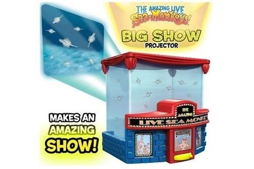 boring,projector,theater,brine shrimp,sea monkeys,show