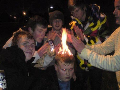 hair,ouch,fire,camp fire