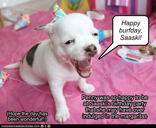 It's Saaski's birthday!!