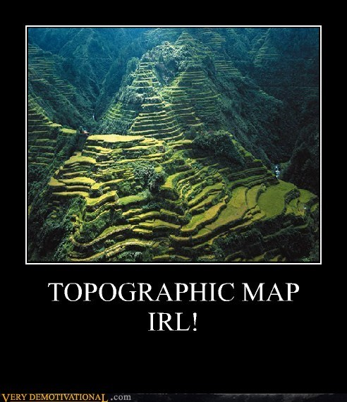 TOPOGRAPHIC MAP IRL!