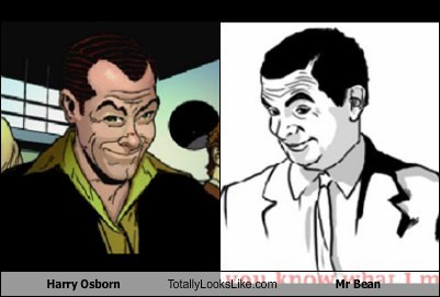 Harry Osborn Totally Looks Like Mr. Bean