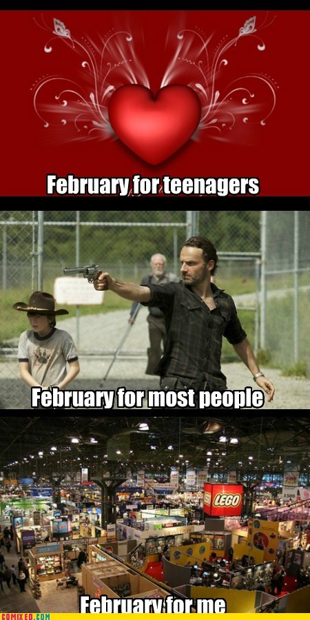 toy fair,february,The Walking Dead,Valentines day