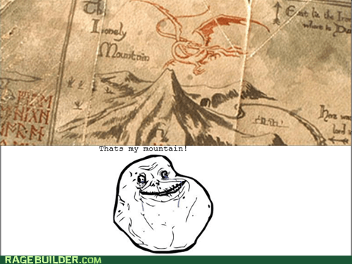 dragon,forever alone,the lonely mountain,The Hobbit,smaug