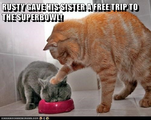 RUSTY GAVE HIS SISTER A FREE TRIP TO THE SUPERBOWL!