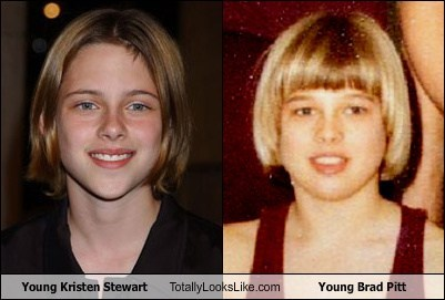 Young Kristen Stewart Totally Looks Like Young Brad Pitt
