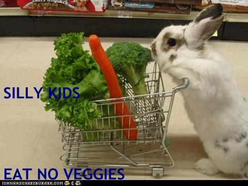SILLY KIDS EAT NO VEGGIES