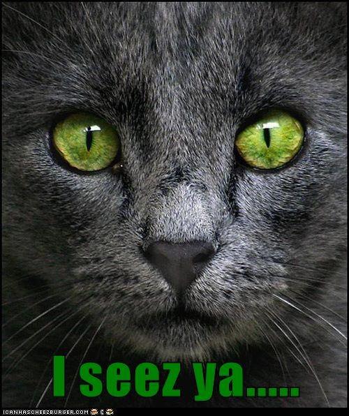 I seez ya.....
