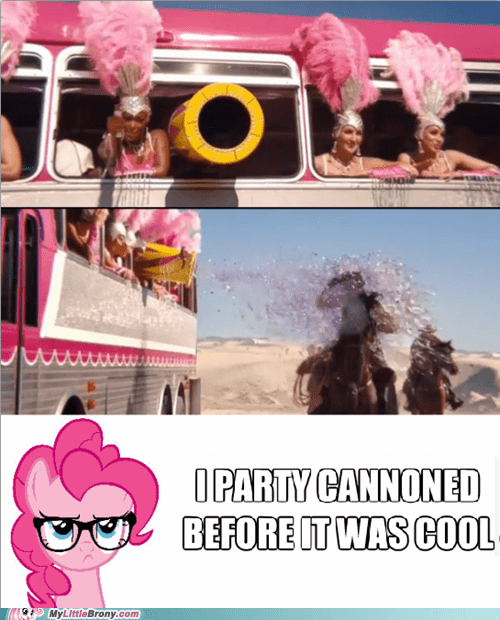 party cannon,pinkie pie,boom