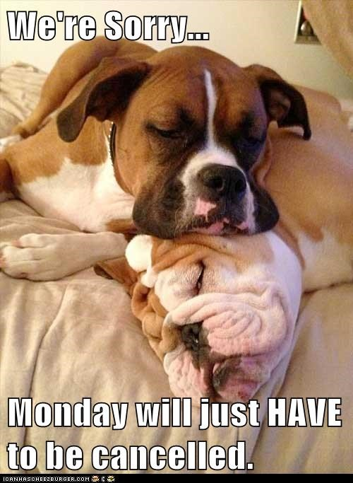 If I Never See Another Monday It'll Be Too Soon...