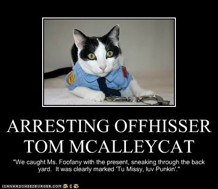 ARRESTING OFFHISSER TOM MCALLEYCAT