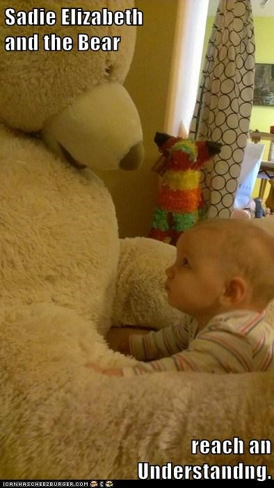 Sadie Elizabeth                                                                     and the Bear  reach an                                                                                                Understandng.