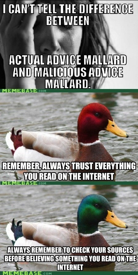 Re-Framed: Actually Malicious Advice, Maybe?