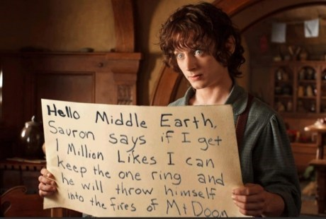 Help Frodo by Liking This on Facebook!