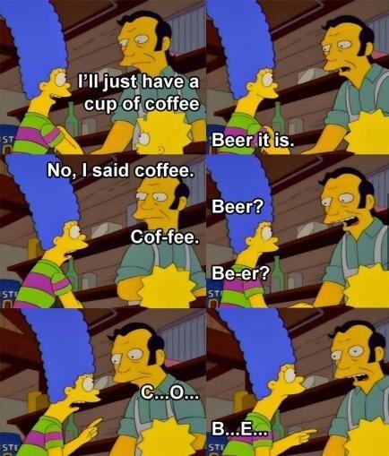 beer,marge simpson,coffee,the simpsons