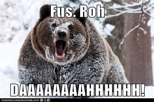 dovahkiin,bears,fus roh da,Skyrim,shouts