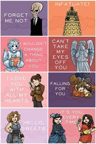 the doctor,cards,doctor who,Valentines day,dating fails,g rated