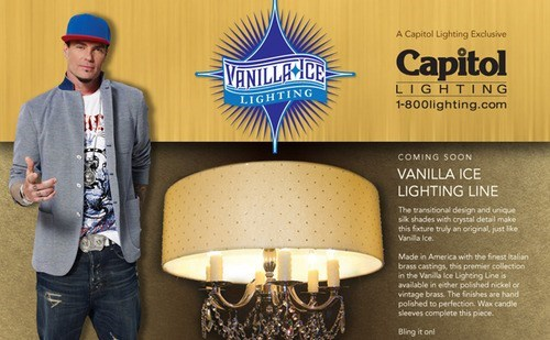 Let Vanilla Ice Design Your Next Chandelier!