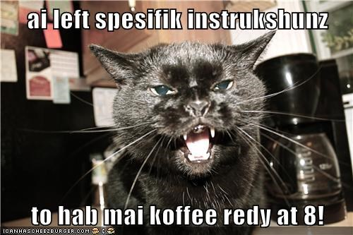 ai left spesifik instrukshunz  to hab mai koffee redy at 8!
