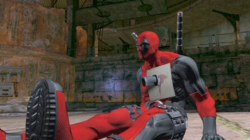 deadpool,pinned chest,note,video games