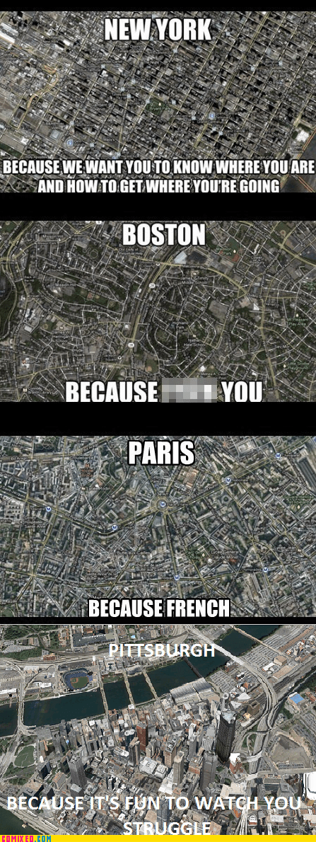 paris,pittsburgh,map,new york,boston