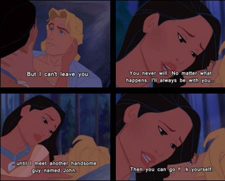 pocahontas,animation,comic,love,walt disney,funny