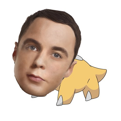 Sheldon Cooper,Pokémon,mashup,the big bang theory,shieldon