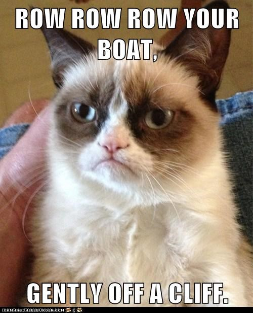 Music,Grumpy Cat,row your boat