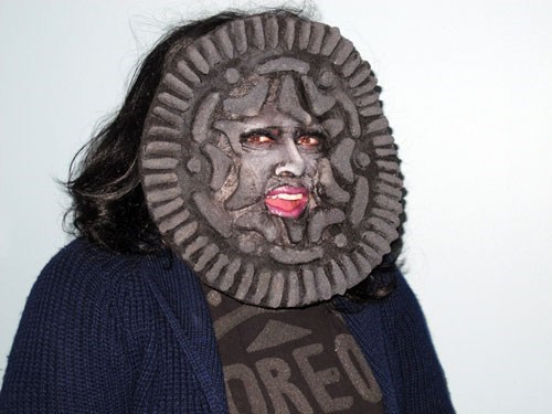 mask,Oreos,costume,poorly dressed,g rated
