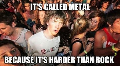 Iron is a Heavy Metal