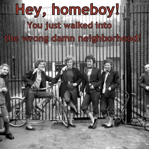 hooligans,bad neighborhood,girls,trouble