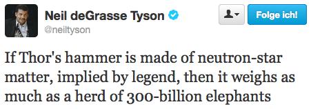 neutron star,mjolnir,elephants,Neil deGrasse Tyson