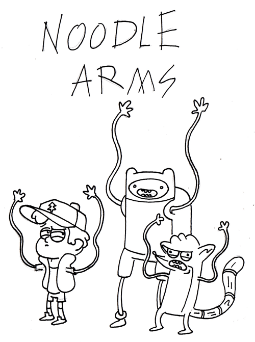 noodle arms,fan art,cartoons