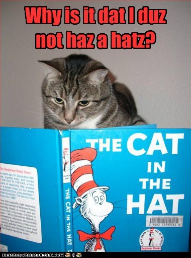 Dat is prolly why I duzznt haz aventures. No hatz.