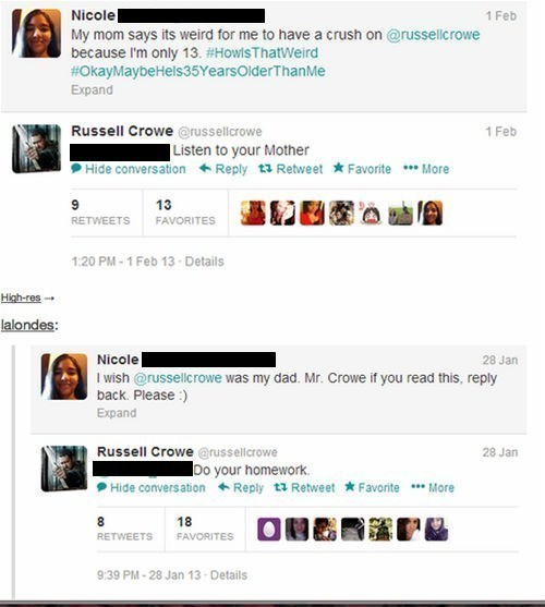 Russell Crowe Has no Patience for Fan Girls