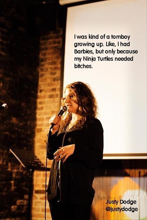 stand up comic,tom boys,barbies,ninja turtles,Parenting FAILS