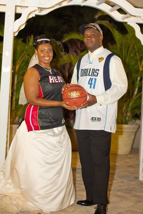 I Now Pronounce You Man and Wife, You May Now Dunk the Ball