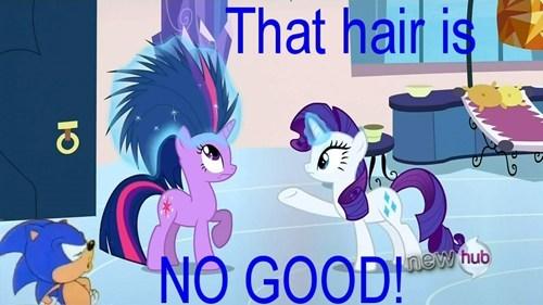 when somome ruins your hair.. THATS NO GOOD!