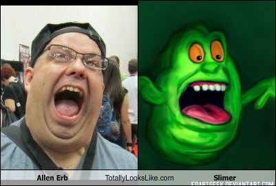Allen Erb Totally Looks Like Slimer