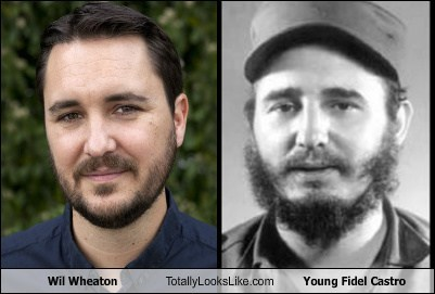 Wil Wheaton Totally Looks Like Young Fidel Castro