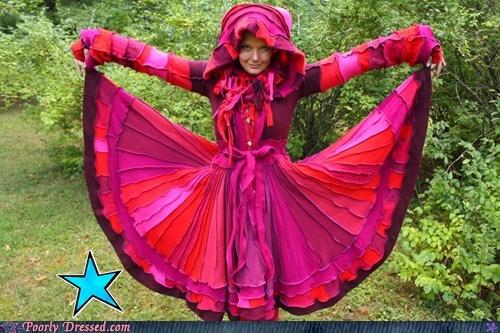 dresses,pink,hoods