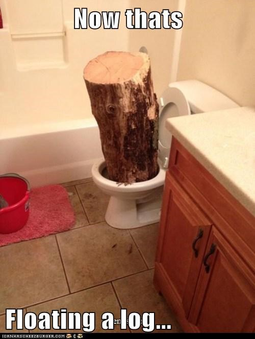 Now thats  Floating a log...