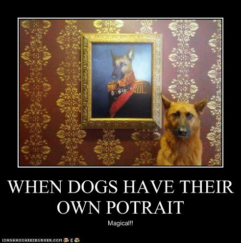 WHEN DOGS HAVE THEIR OWN POTRAIT