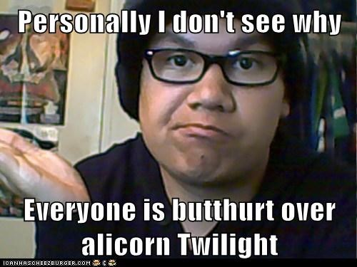 Personally I don't see why  Everyone is butthurt over alicorn Twilight