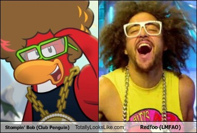 Stompin' Bob (Club Penguin) Totally Looks Like Redfoo (LMFAO)