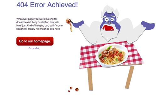 yeti,spaghetti,404